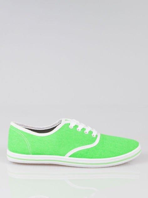 Zielone damskie tenisówki przed kostkę Jen                                  zdj.                                  1