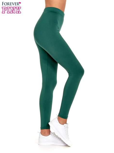 Zielone legginsy basic z lekkim ociepleniem                                  zdj.                                  3