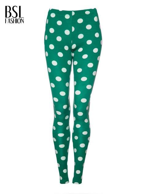 Zielone legginsy w grochy                                  zdj.                                  5
