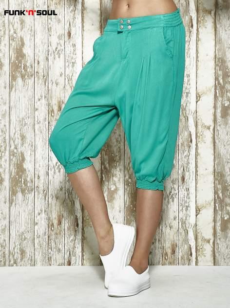 Zielone spodnie alladynki z bocznymi kieszeniami FUNK N SOUL