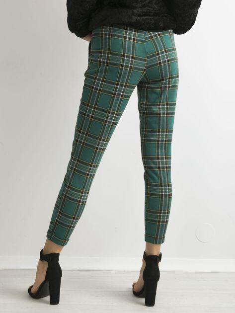 Zielone spodnie w kratę                              zdj.                              2