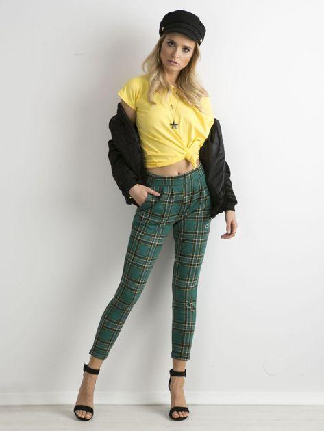 Zielone spodnie w kratę                              zdj.                              4