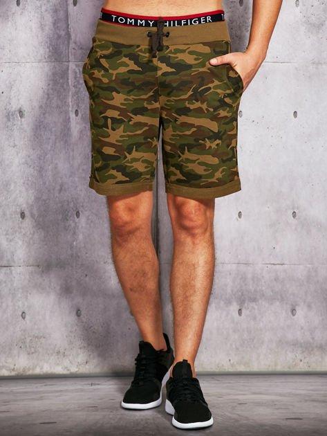 Zielone szorty męskie w militarnym stylu                              zdj.                              1