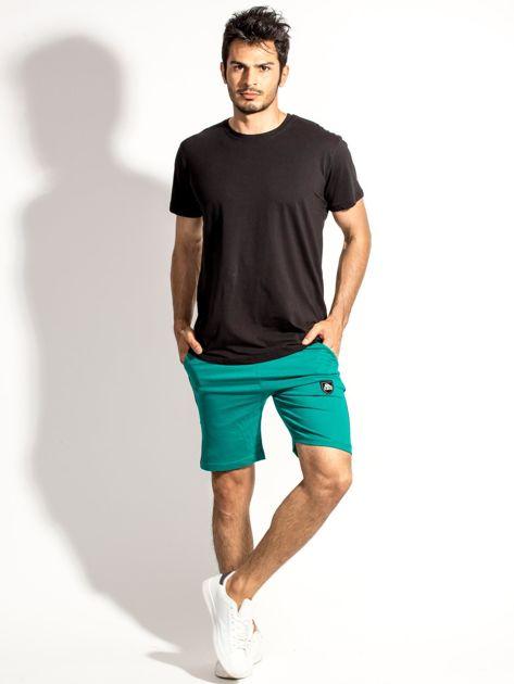 Zielone szorty męskie z kontrastowymi wstawkami                              zdj.                              5