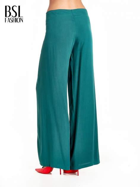 Zielone zwiewne spodnie typu palazzo                                  zdj.                                  4