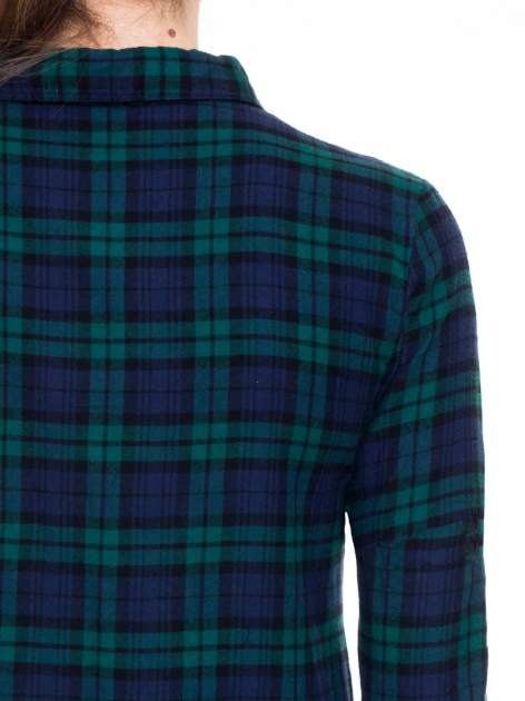 Zielono-granatowa koszulotunika w kratę                                  zdj.                                  7
