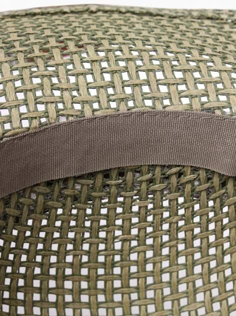 Zielony kapelusz słomiany z dużym rondem i apaszką w grochy                                  zdj.                                  6