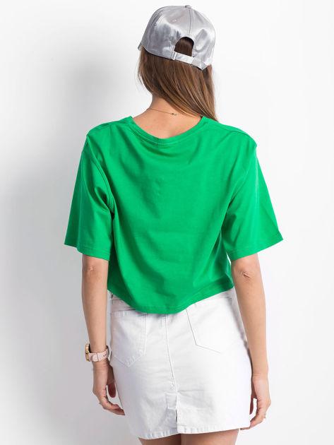 Zielony krótki t-shirt                               zdj.                              2