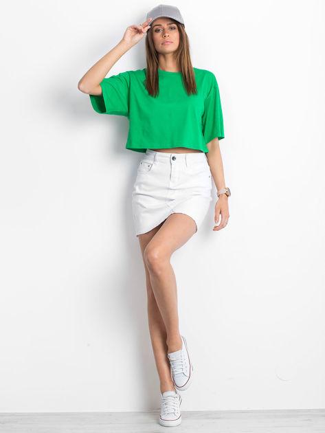 Zielony krótki t-shirt                               zdj.                              4