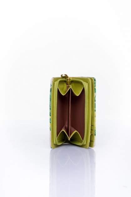 Zielony portfel z kwiatowym nadrukiem                                  zdj.                                  5