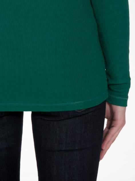 Zielony prążkowany golf damski                                  zdj.                                  8