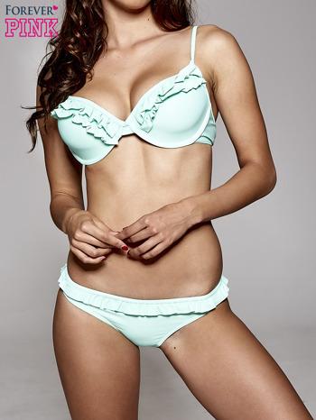Zielony stanik od bikini zdobiony falbanką                                  zdj.                                  2
