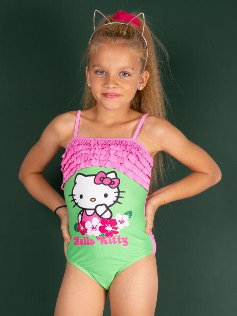 Zielony strój kąpielowy dla dziewczynki HELLO KITTY
