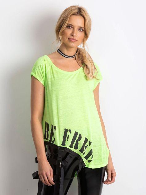 Zielony t-shirt Statement