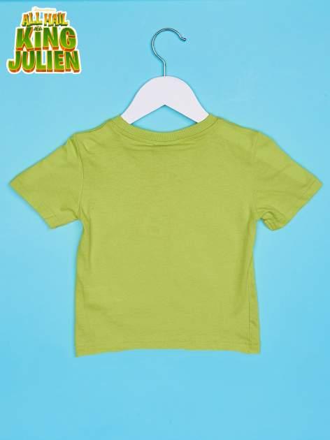 Zielony t-shirt chłopięcy KRÓL JULIAN                                  zdj.                                  2