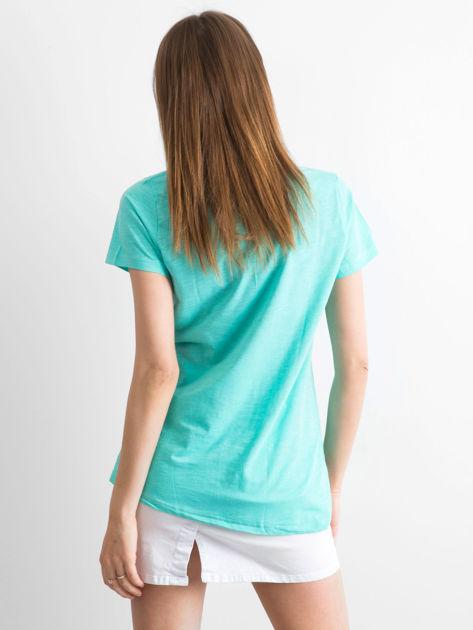 Zielony t-shirt damski basic                              zdj.                              2