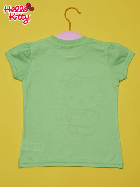 Zielony t-shirt dla dziewczynki HELLO KITTY                                  zdj.                                  2