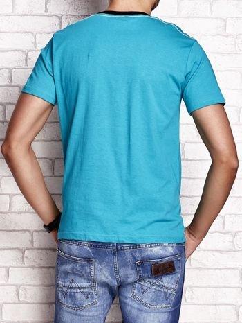 Zielony t-shirt męski z napisem BROOKLYN NYC                                  zdj.                                  2