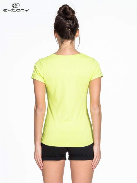 Zielony t-shirt sportowy basic                                  zdj.                                  2
