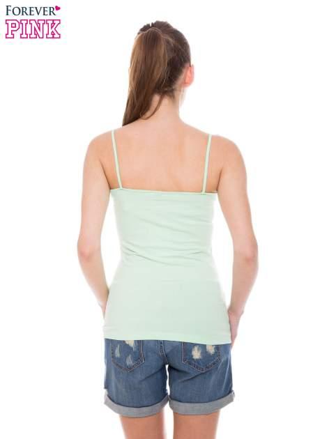 Zielony top na cienkich ramiączkach                                  zdj.                                  3