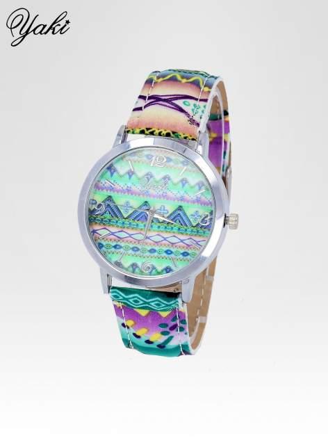 Zielony zegarek damski z motywem azteckim                                  zdj.                                  2