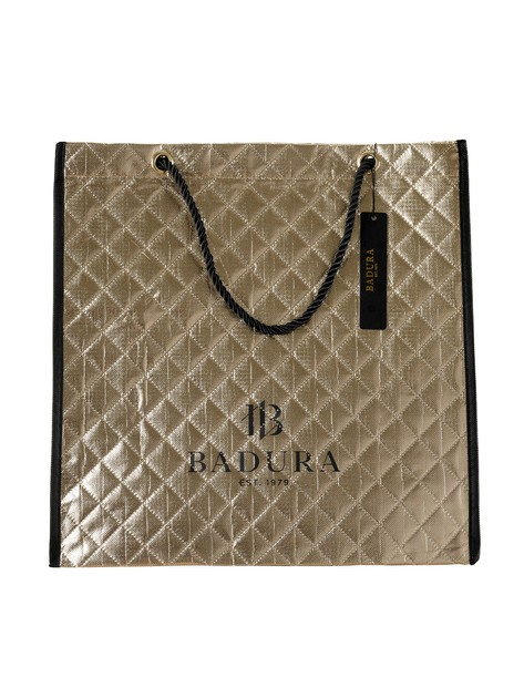 Złota torba pikowana BADURA