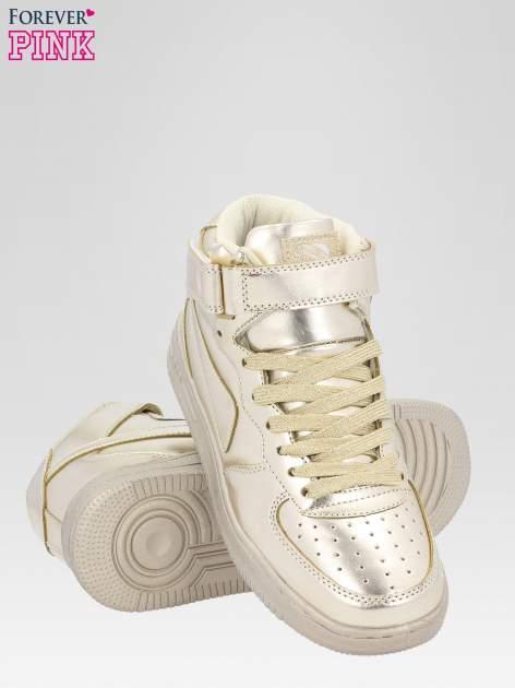 Złote buty sportowe Heather za kostkę na grubej podeszwie                                  zdj.                                  4