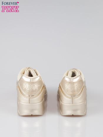 Złote buty sportowe faux leather Gigi z poduszką powietrzną w pięcie                                  zdj.                                  3