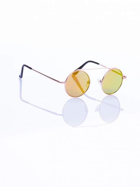 Złote okulary przeciwsłoneczne LENONKI lustrzanka                                  zdj.                                  5