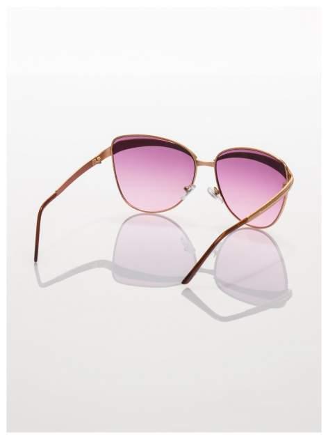 Złote okulary przeciwsłoneczne z cyrkoniami w stylu RETRO                                   zdj.                                  4