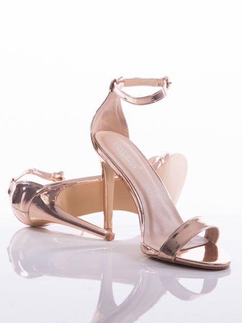 Złote sandały Vinceza na szpilkach zapinane w kostkach                              zdj.                              4