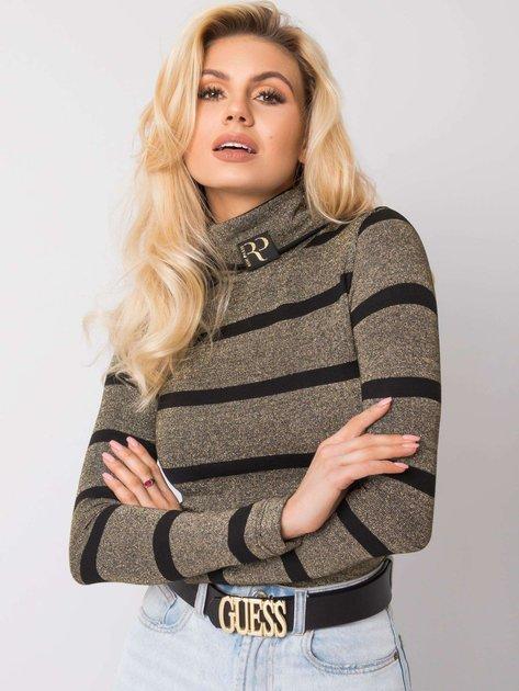 Złoty sweter z golfem Joceline RUE PARIS