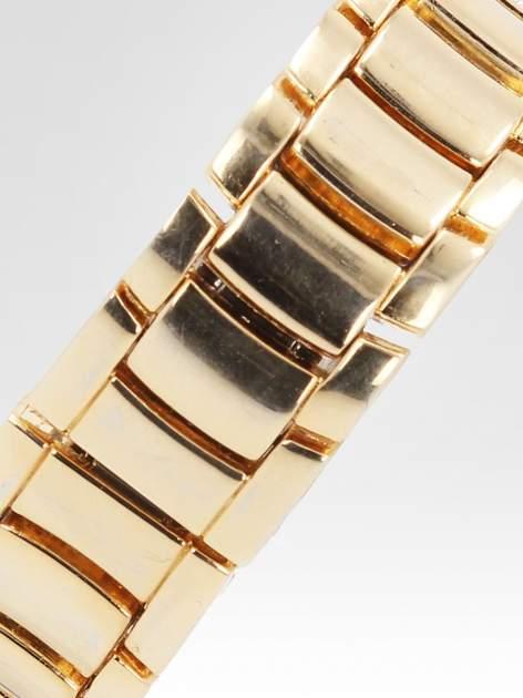 Złoty zegarek damski na bransolecie wysadzany cyrkoniami                                  zdj.                                  4