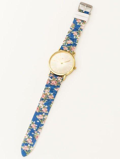 Złoty zegarek damski na silikonowym wygodnym pasku                              zdj.                              2