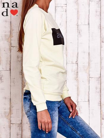 Żółta bluza z napisem AWESOME                                  zdj.                                  3