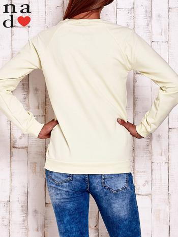 Żółta bluza z napisem AWESOME                                  zdj.                                  4