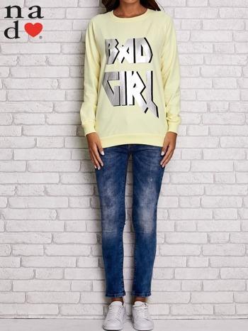 Żółta bluza z napisem BAD GIRL