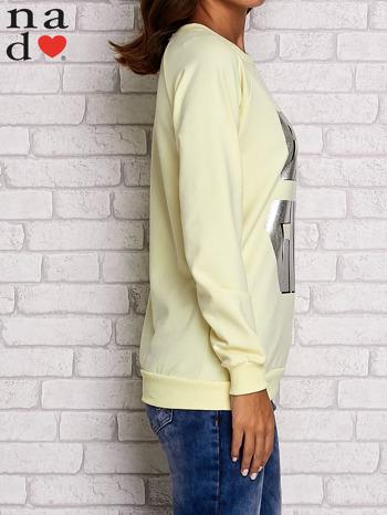 Żółta bluza z napisem BAD GIRL                                  zdj.                                  3