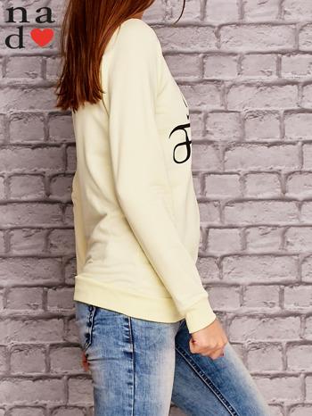 Żółta bluza z napisem MAM FOCHA                                  zdj.                                  3