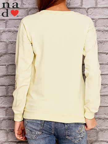 Żółta bluza z napisem NIC NIE MUSZĘ                                   zdj.                                  4