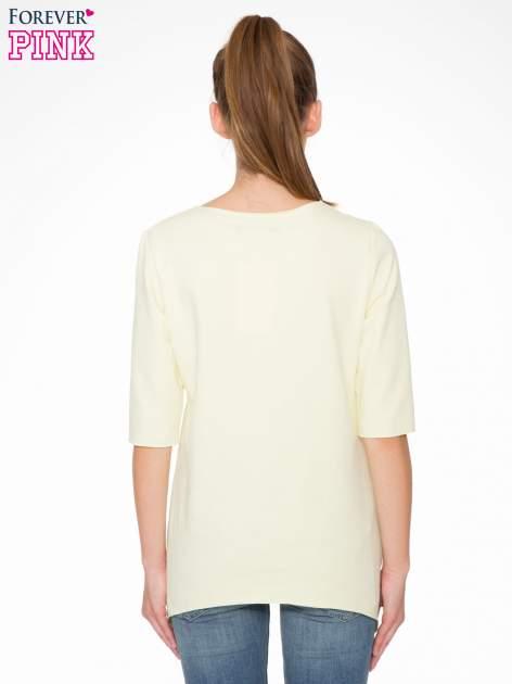 Żółta bluza z wydłużanymi bokami                                  zdj.                                  4