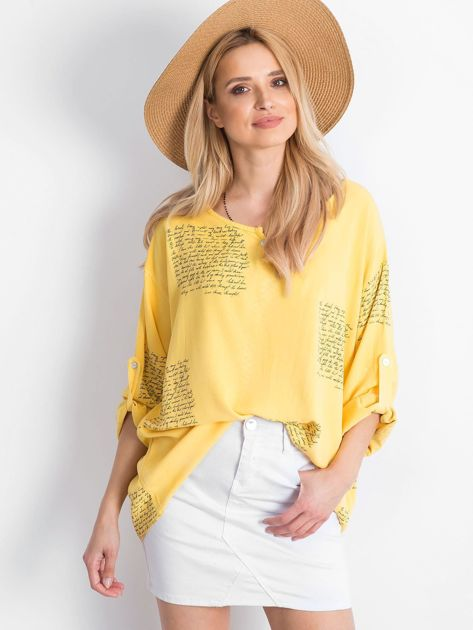 Żółta bluzka Happines                              zdj.                              1