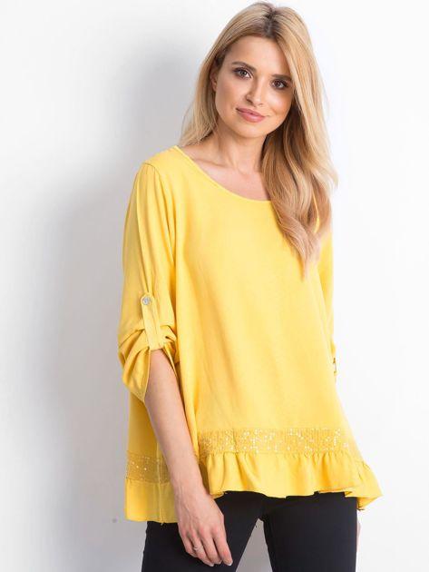 Żółta bluzka Nostalgic                              zdj.                              1