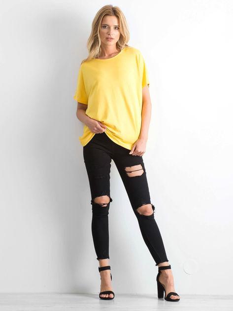 Żółta bluzka Oversize                              zdj.                              4