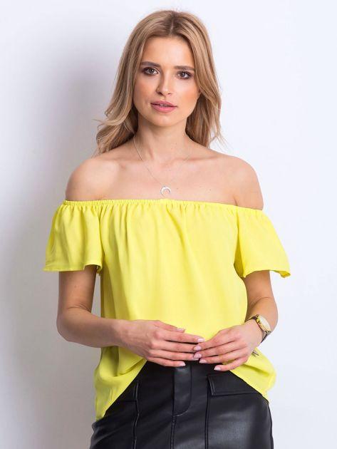 Żółta bluzka Structured                              zdj.                              1