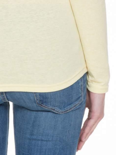 Żółta bluzka z długim rękawem z bawełny                                  zdj.                                  6