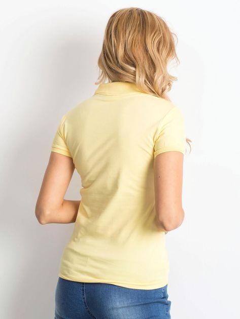 Żółta damska koszulka polo                              zdj.                              2