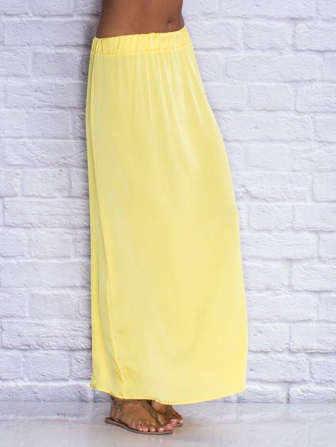 Żółta długa spódnica maxi                              zdj.                              3