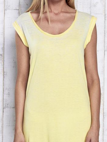 Żółta długa sukienka acid wash                                   zdj.                                  5