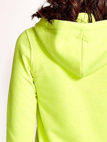 Żółta gładka bluza z kapturem                                  zdj.                                  6